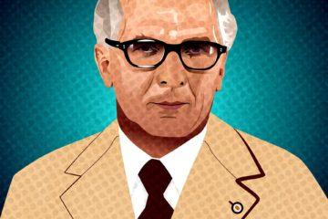 Portrait von Erich Honecker in Pop Art